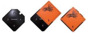 Schildhalter für Gefahrenschilder aus Hart PVC