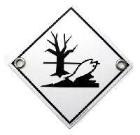 Gefahrenschild Umweltgefährdende Stoffe, mit oder ohne Ösen