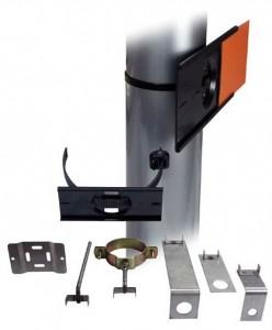 Profilschiene aus Polypropylen mit Schnellmontageband aus VA-Stahl oder Polyamid