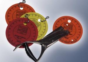 Hart-PVC Prüfplaketten