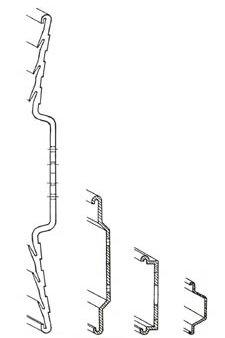 Querschnitte Profilschienen 200 mm, 86,5 mm, 50 mm und 30 mm
