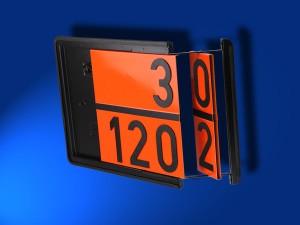 Zweistoff-Warntafel für Benzin und Heizöl