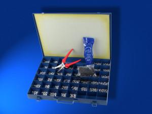 Sortimentskoffer blaue Zeichen